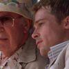 Carl Reiner en Brad Pitt in Ocean's Eleven